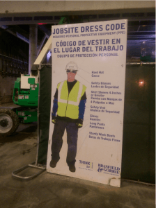 Brasfield & Gorrie posts English to Spanish translated sign