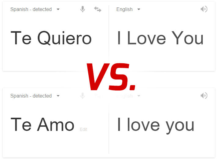 When To Use Te Amo Vs Quiero